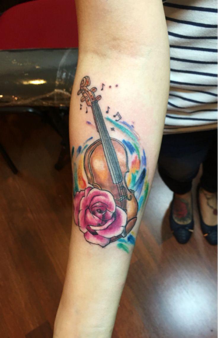 Violin tattoo | Tattoos ^ ^ | Pinterest | Tattoos, Violin ...