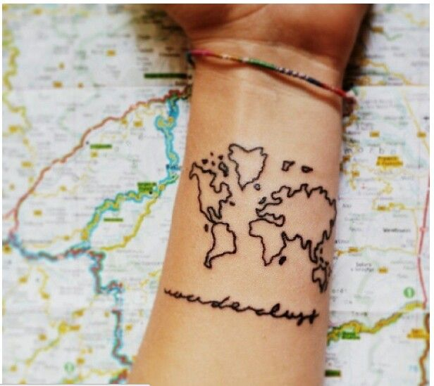 10 best tatuajes images on pinterest backgrounds map tattoos wanderlust and world map tattoo love it gumiabroncs Image collections