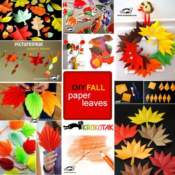 DIY Fall paper leaves