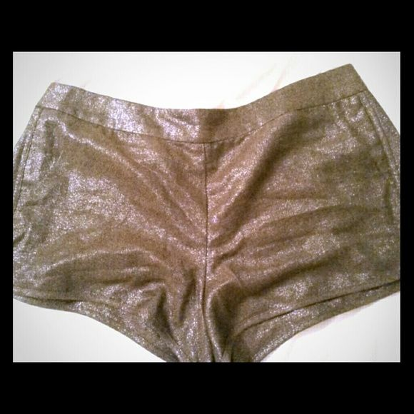 French connection shorts size 12 gold pewter Bronze french connection shorts French Connection Dresses