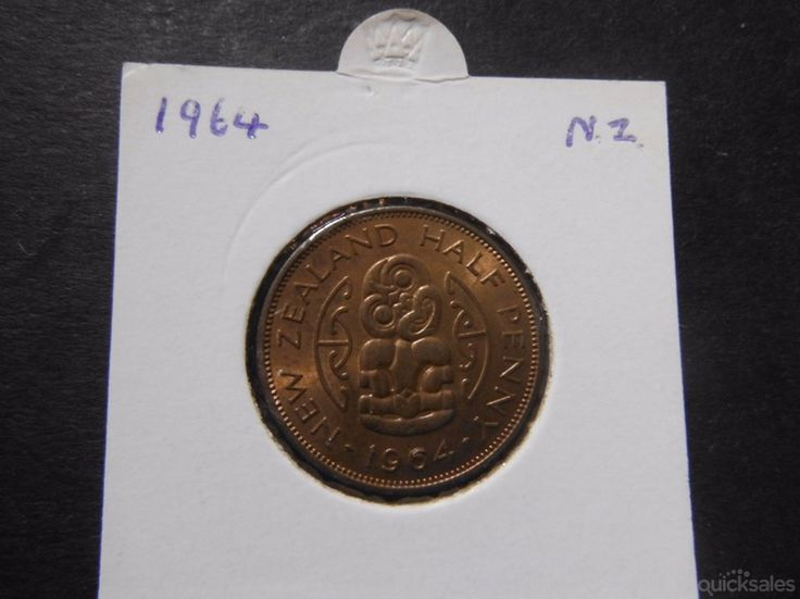 New Zealand half penny, QE II, 1964 good condition by jones101 - $10.00