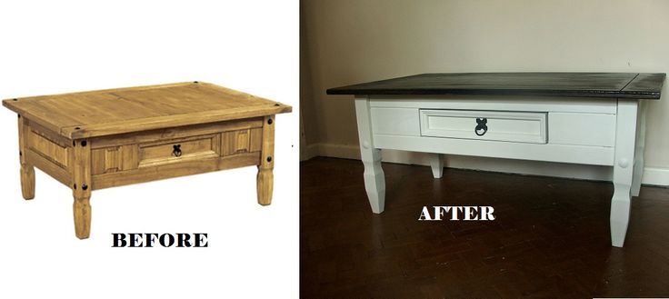 Up-cycled by www.cecilyshumblehome.co.uk Mexican pine corona coffee table, painted in Annie Sloan's Old White chalk paint and finished with a clear wax of the same range. The top is stained with Ebony woodstain by Ronseal.