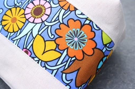 patchwork flowers  beige zipper bag by onnaBandA on Etsy, €22.00