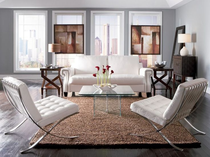 The Zola Living Room Is A Modern Blend Of Luxurious Soft White Leather With Fresh