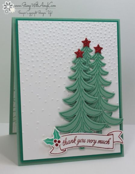 Stampin' Up! Santa's Sleigh Holiday Thank You Card
