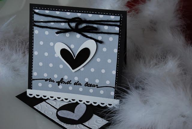 carte de deuil cœur format carré