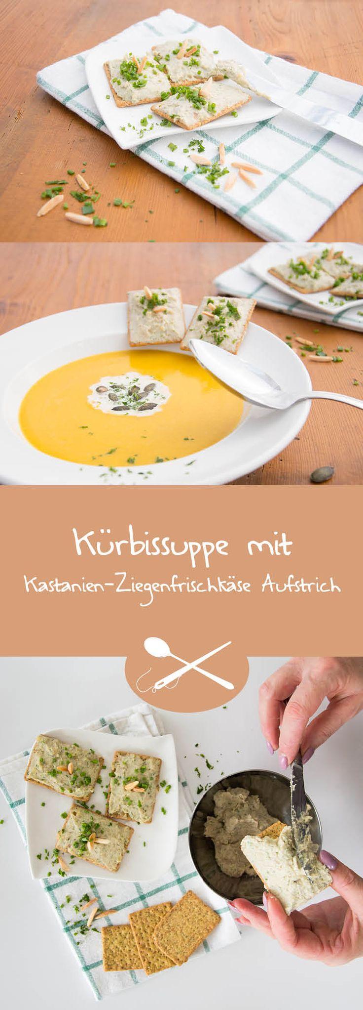 An kalten Tagen wärmt diese Suppe wohlig den Magen. Der Kastanien-Ziegenfrischkäse-Aufstrich gibt einen feinen Touch, an dem Hildegard von Bingen sicher Freude hätte.