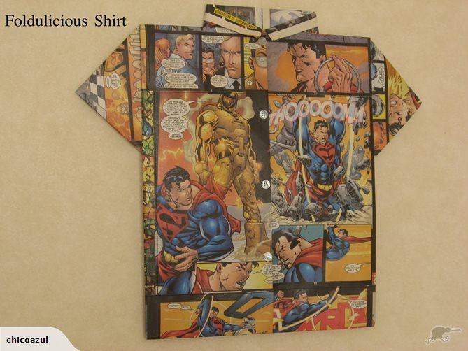 Folded Paper Art -Foldulicious Shirt - Superman #2 | Trade Me
