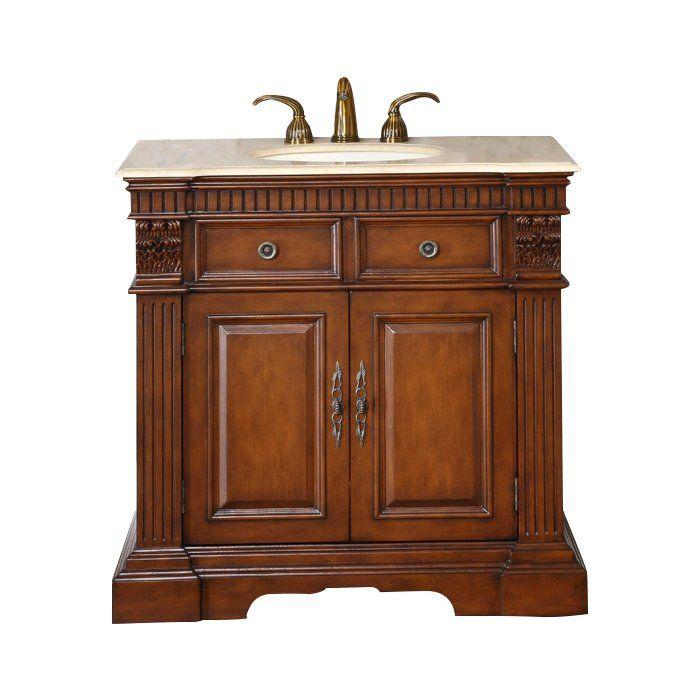 Hemming 36 Single Bathroom Vanity Set Single Bathroom Vanity Bathroom Vanity Powder Room Vanity