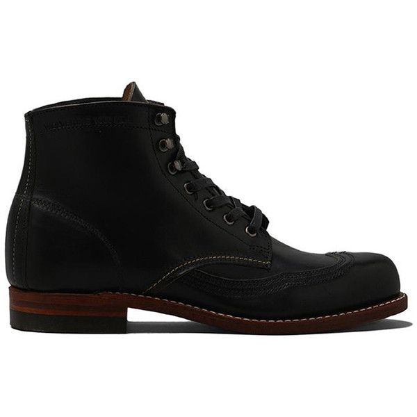 Wolverine 1000 Mile Addison Wingtip Boot (7,340 MXN) ❤ liked on Polyvore featuring men's fashion, men's shoes, men's boots, shoes, wolverine mens boots, mens lace up shoes, mens wingtip boots, mens wing tip shoes and mens lace up boots
