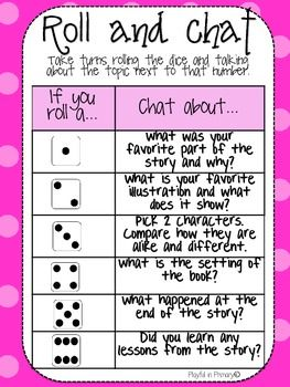 Reading Comprehension FREEBIE! ROLL AND CHAT: READING COMPREHENSION DICE GAME - TeachersPayTeachers.com