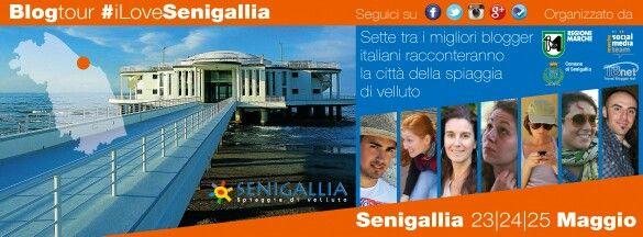 """Locandina dell'evento chiamato : Blogtour""""#ILoveSenigallia"""", organizzato da Regione Marche (e altri Enti),e svoltosi il 23/24/25 Maggio 2014...."""