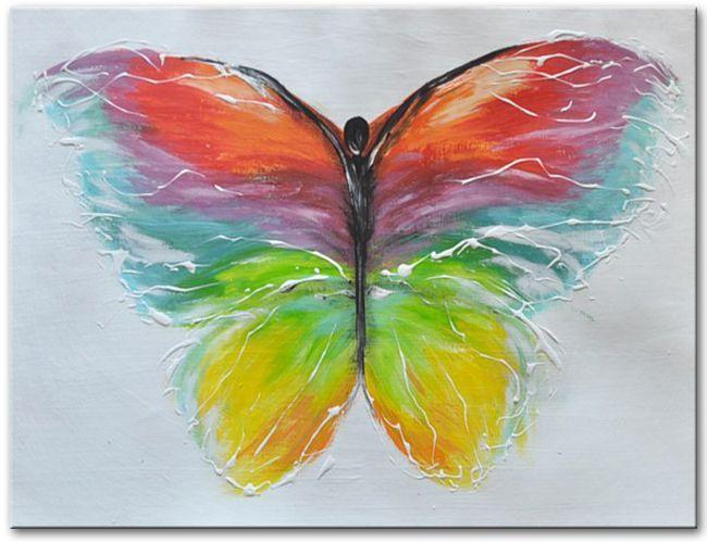 Wie wil er geen schilderij aan de muur met een mooi gekleurde vlinder interieur idee - Associatie van kleur e geen schilderij ...