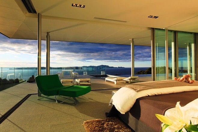 master bedroom with a view...bay of islands, NZ ... Holiday home me wishfully thinks!