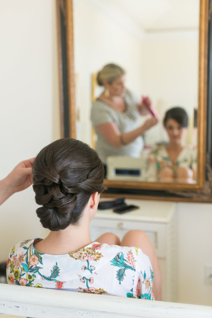 #Hairstyle |  See the wedding on SMP: http://www.StyleMePretty.com/south-carolina-weddings/hilton-head-island/2014/01/27/gold-blush-hilton-head-island-wedding/ Dana Cubbage Weddings |