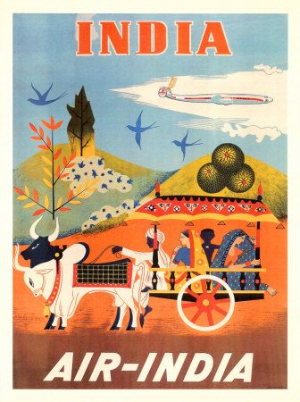 vintage travel poster: India