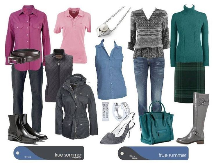 Casual outfits for True Summer from both the Corporate and Classic Palettes. Source True Colour FB.