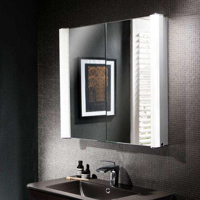 Crosswater Bauhaus Duo Illuminated Mirrored Cabinet Mirror