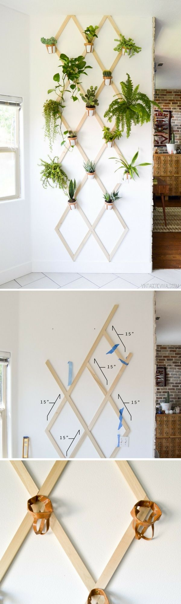 Check out how to build a DIY trellis plant wall @istandarddesign