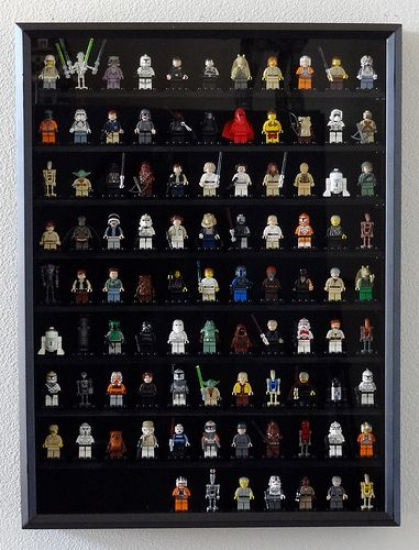 Lego figures display case (bonus points: these are Star Wars themed characters)