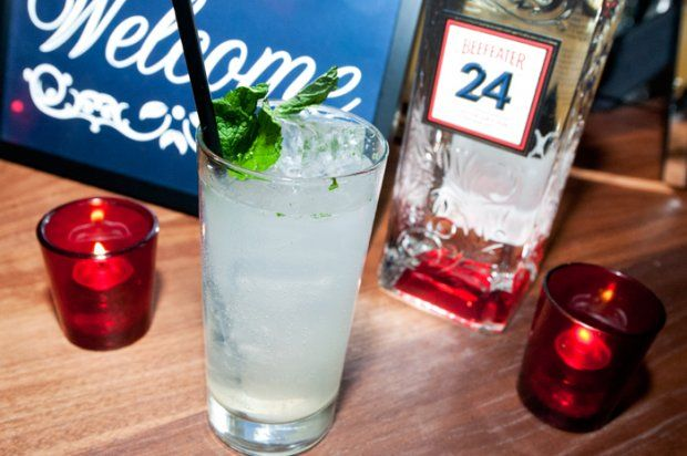 oceanside fizz. gin, mint, lime, sea salt. what's not to love?