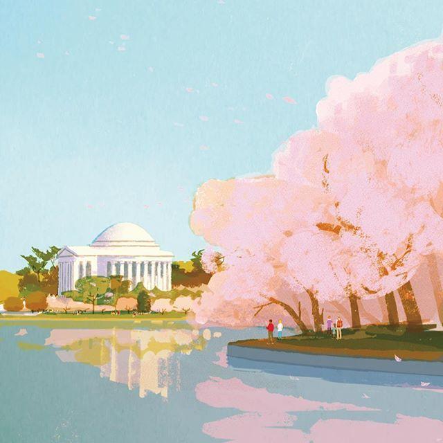 #illustration #painting #tatsurokiuchi #art #drawing #life #lifestyle #happy #japan #people #木内達朗 #イラスト #イラストレーション #cherryblossom #桜 #さくら
