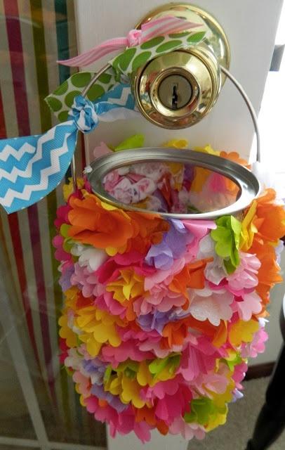The Vintage Umbrella Tissue Paper May Basket Craft