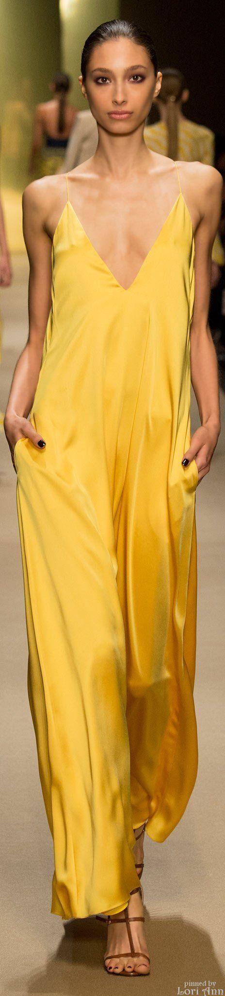 ❖ Yellow makes her Happy ⚡️  Guy Laroche Spring 2015 RTW