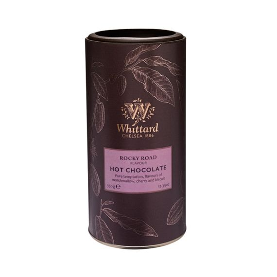 """Whittard of Chelsea - Warme Chocolade 'Rocky Road"""" Een herinnering aan vervlogen tijden, de goudzoekers in Australië die genoten van chocoladekoekjes en marshmallows ... een recept dat wereldwijd werd verspreid. Als ode hieraan heeft Whittard de Rocky Road Hot Chocolate.  http://www.bommelsconserven.nl/delicatessen/chocolade_online_bestellen_bij_bommels_conserven/pure_cacao_online_bestellen/"""