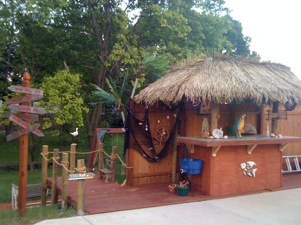 Backyard Tiki Hut Plans : Outdoor Tiki Bar Plans Free  WoodWorking Projects & Plans
