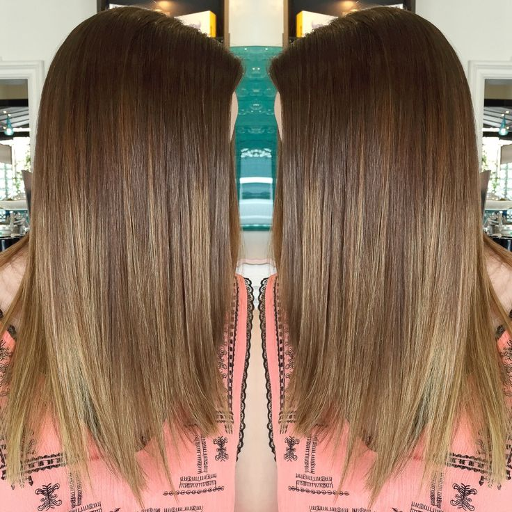 Brazilian straightening and ombre!