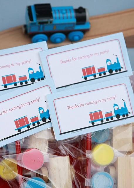 paint your own train... party favors-love!!!