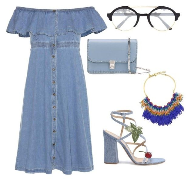 """""""Looking for a denim look, well here you go!!!"""" by kakieklak on Polyvore featuring Tommy Hilfiger, Gianvito Rossi, Valentino, Illesteva and Lele Sadoughi"""