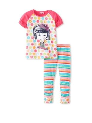58% OFF Me Too Kid's Tee & Legging Set (Beetroot Purple)