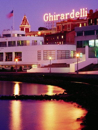 Ghirardelli Square, Fisherman's Wharf, San Francisco. ~ Love that #chocolate! repinned for you by Karen of AZdesertTrips.com