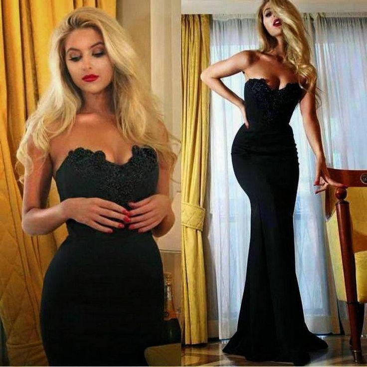 Cheap long black cocktail dresses