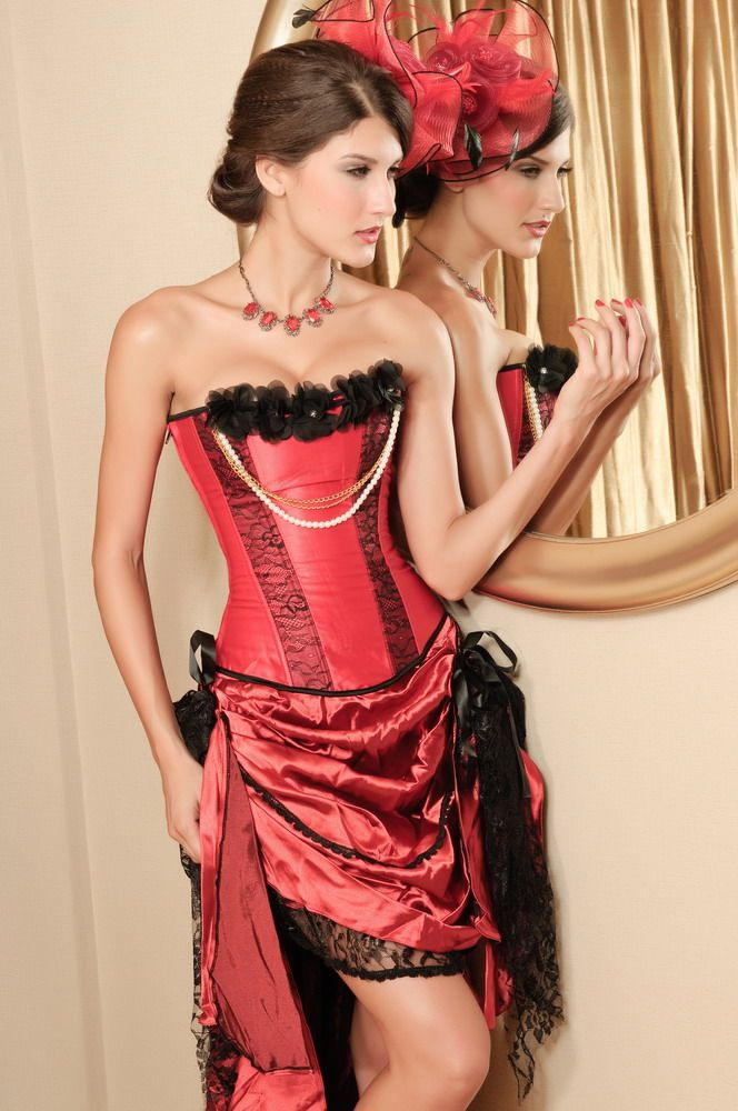 Pearl Seductress Burlesque Corset