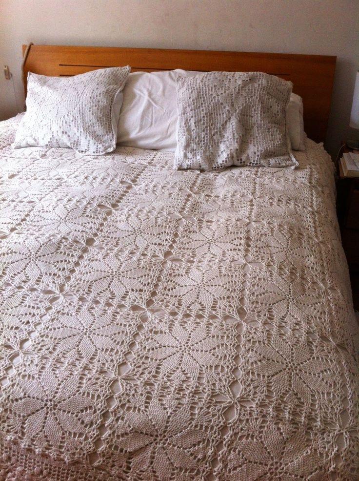 LANAS, PALILLOS Y CROCHET: colcha a crochet/ crochet blanket