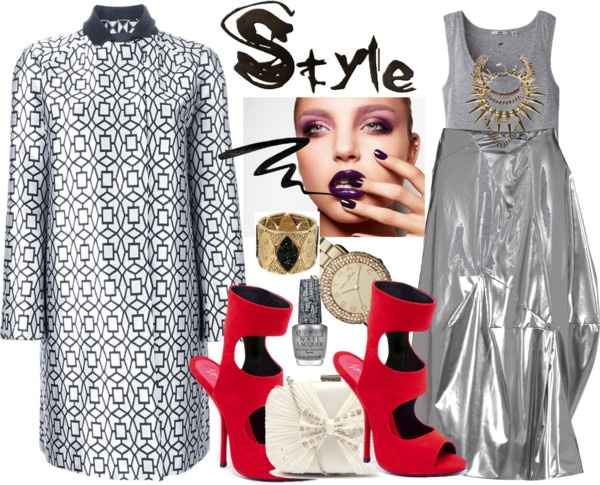 """""""METALLICS FOR SPRING"""" by mselegance ❤ liked on Polyvore"""