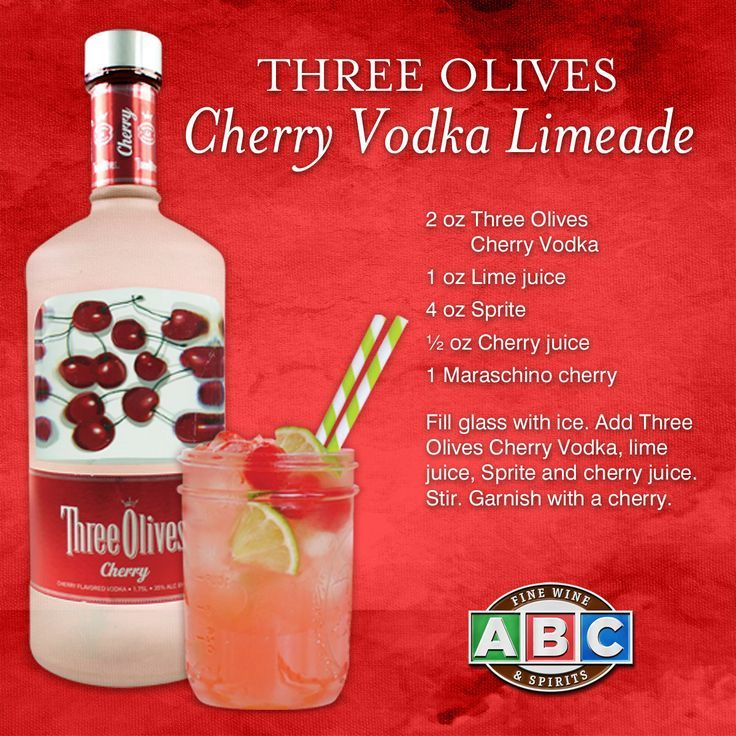 This Three Olives Cherry Vodka Limeade #cocktail is the perfect refresher for hot summer BBQs