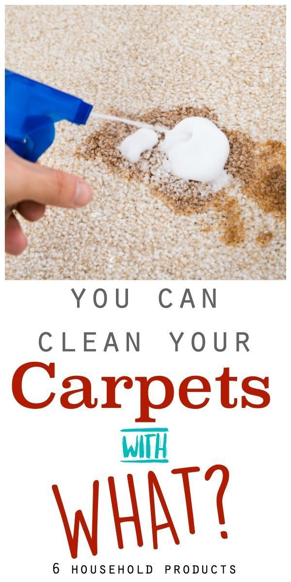 Clean your Carpets with these 6 household products!