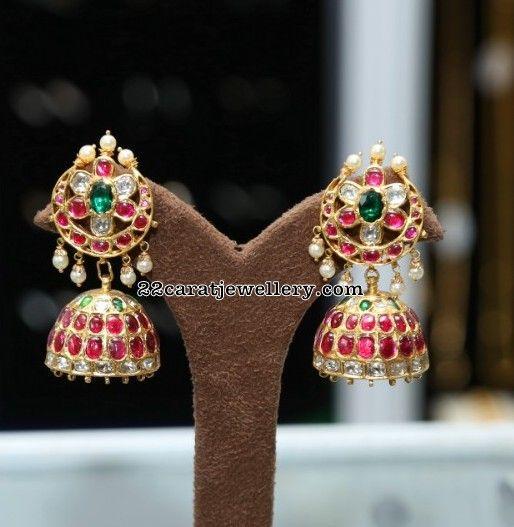 Kundan Jhumkas and Chandbalis by Sunitha