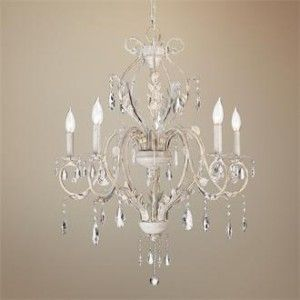 white vintage chandelier   I really need this for my room I am redecorating :?