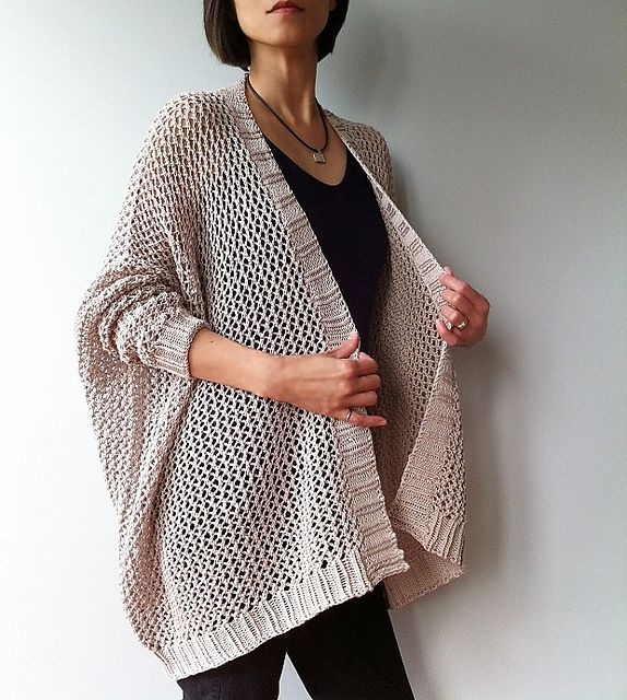 Ravelry: Angelina - easy trendy cardigan (knit) pattern by Vicky Chan