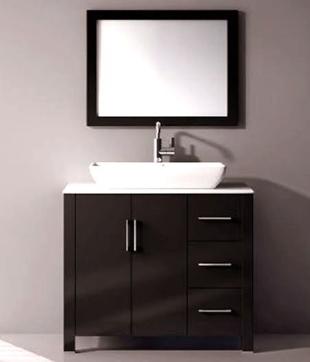 36 Inch Bathroom Vanities Contemporary Marble Top Ceramic Sink With Mirror  018. 17 Best ideas about 36 Inch Bathroom Vanity on Pinterest   Small