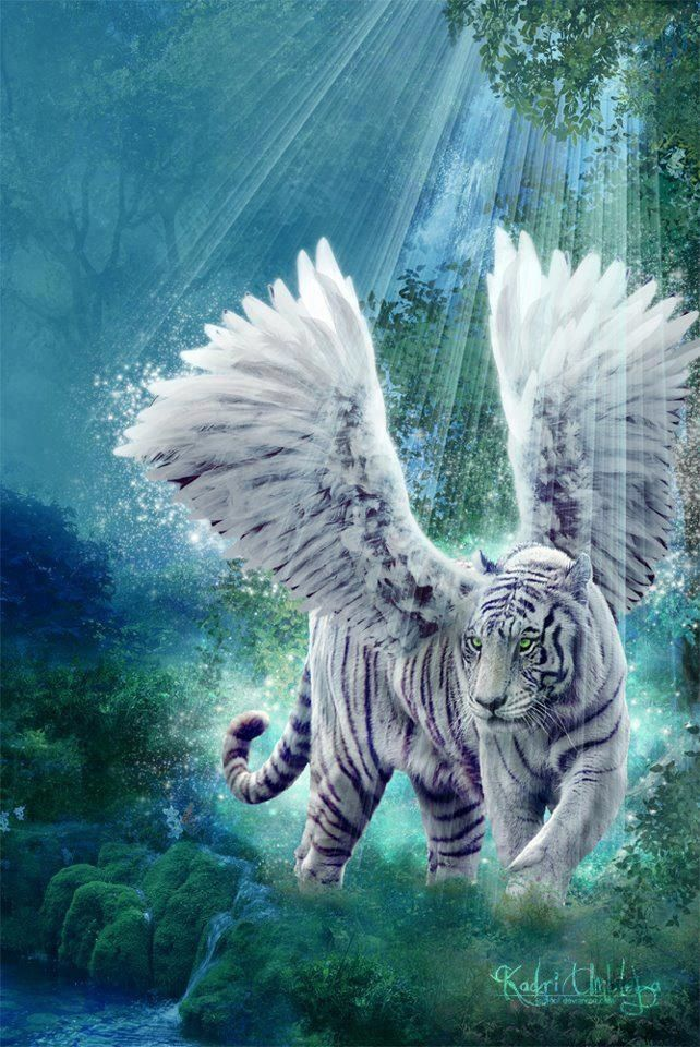 Fantasy white tiger - photo#4