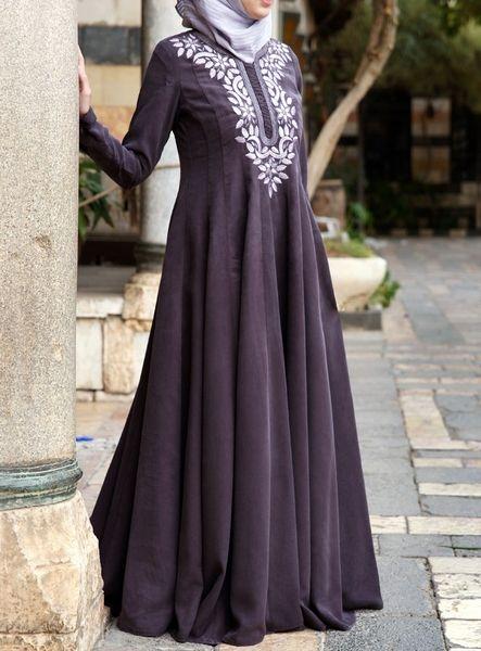 SHUKR USA   Murjan Embroidered Gown