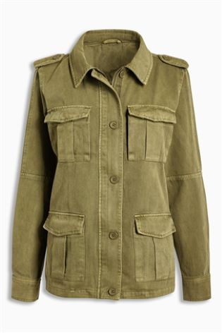 Khaki Куртка в стиле милитари