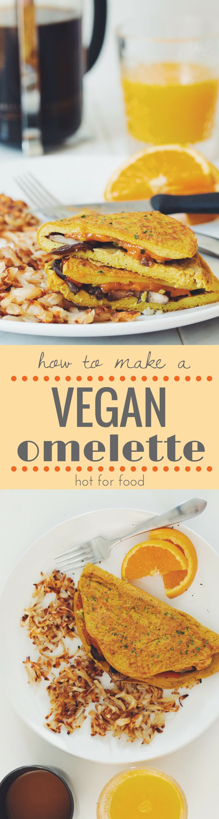 how to make a vegan omelette | RECIPE on hotforfoodblog.com