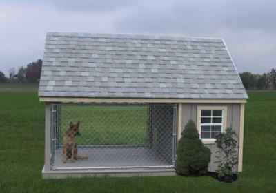 Image detail for -DOG RUN OUTDOOR KENNEL HOUSE AMISH CUSTOM HANDMADE SHED - New and Used ...